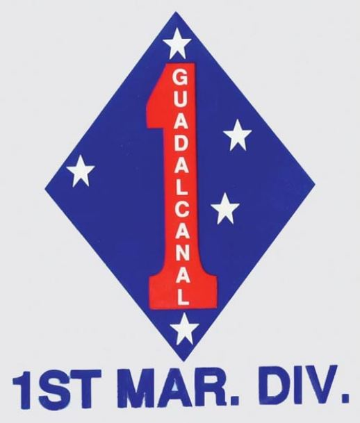 1st Marine Division Decal