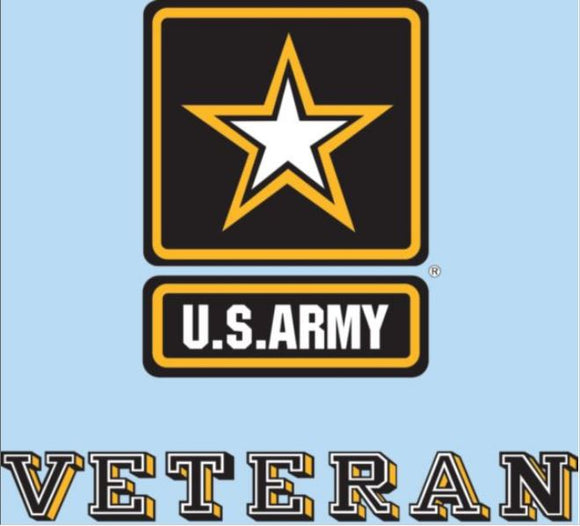 Decal US Army Veteran Army Star