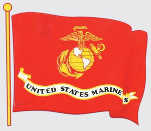 U.S. Marine Wavy Flag Decal