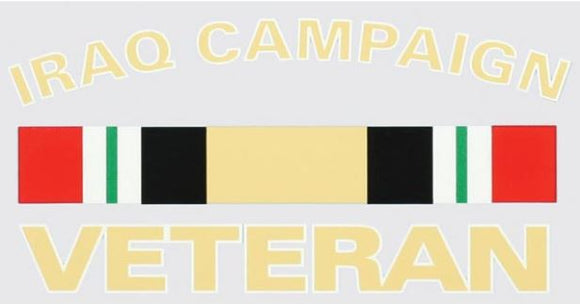 Iraq Campaign Veteran Decal w Ribbon