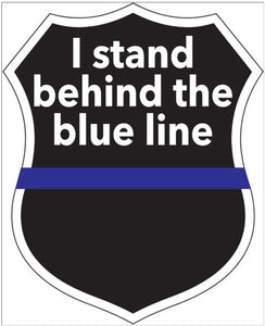 I Stand Behind the Blue Decal