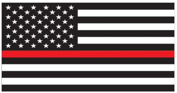 US Flag Red Line Decal