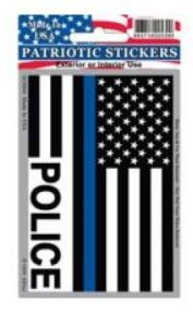 POLICE Flag Blue Line Sticker