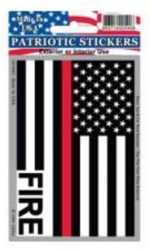 Red Line Flag FIRE Sticker