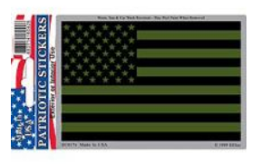 Subdued US Flag Decal