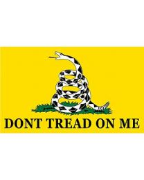 Dont Tread on Me Flag - Yellow