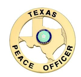 Texas Peace Officer Badge - Gold
