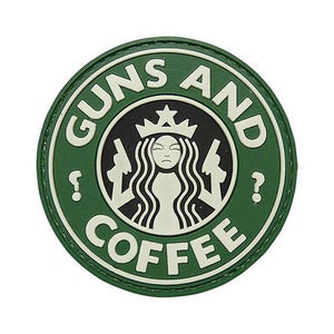 Guns & Coffee Velcro Patch