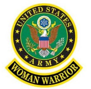 Army Woman Warrior Patch