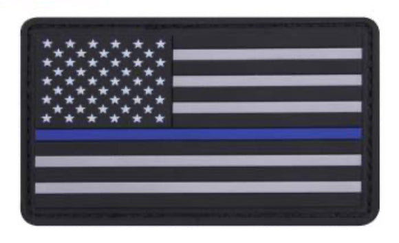 Rubber US Thin Blue Line Flag Patch
