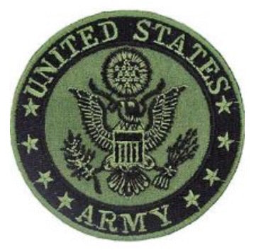 OD US Army Round Patch