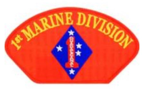 1st Marine Division Hat Patch