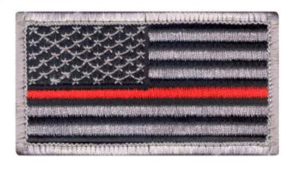 US Flag Patch Thin Red Line w Velcro