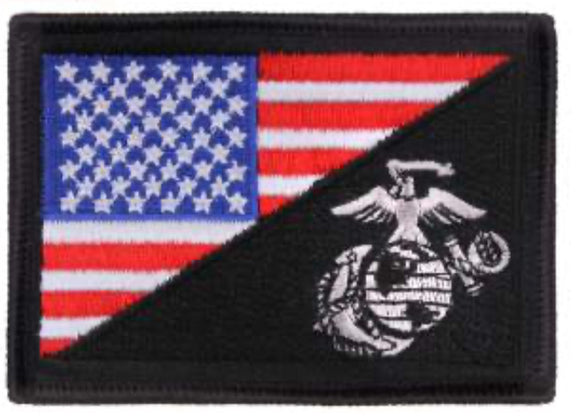 USA Velcro Flag Patch w EGA