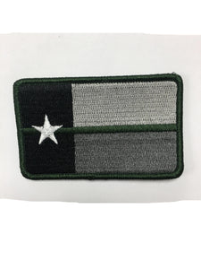 Texas Green Line Green Border Velcro Patch