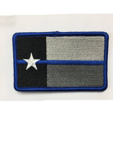 Texas Blue Line Blue Border Custom Patch