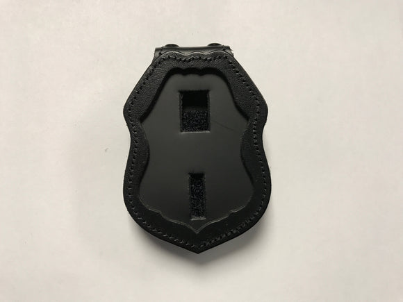 Border Patrol Badge Holder Recessed Clip-On (No Chain)