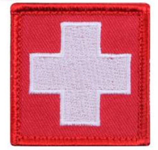 Medic Cross Velcro Patch Red / White