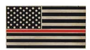 Red Line USA Flag Pin
