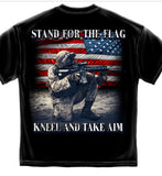 Stand for Flag Kneel Aim T-Shirt