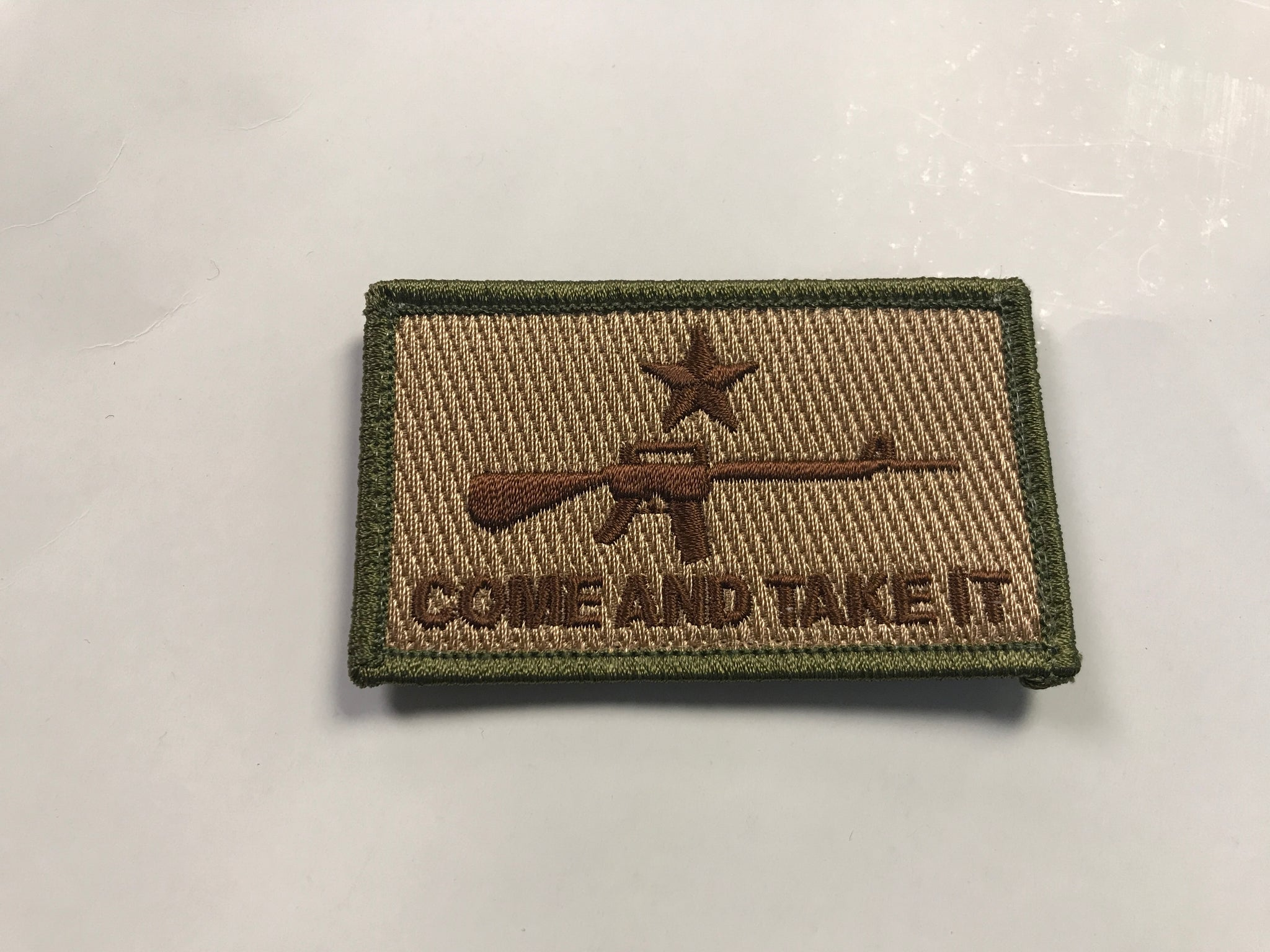 Come And Take It Velcro Patch Green Beret