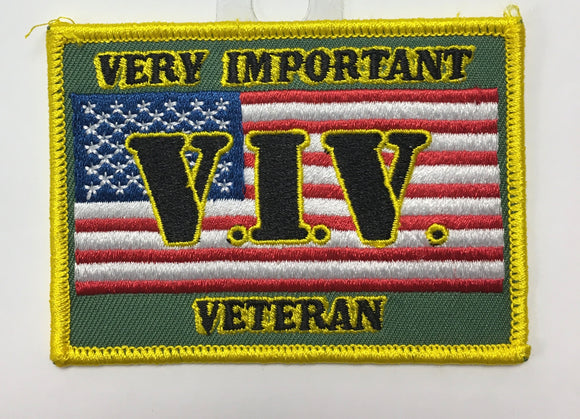 V.I.V. Very Important Veteran Custom Patch
