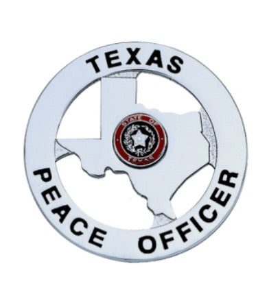 Texas Peace Officer Badge - Silver