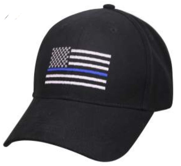 Thin Blue Line Embroidered Cap
