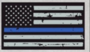 U.S. Flag Thin Blue Line Decal