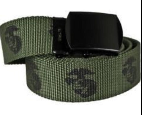 USMC Web Belt w Globe & Anchor