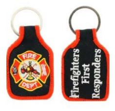 Fire Department cloth Keychain