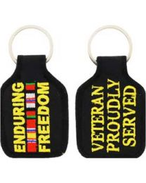 Cloth Keychain Enduring Freedom