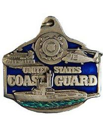 Metal Keychain US Coast Guard