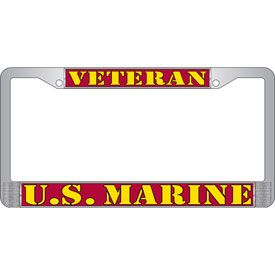 U.S. Marine Veteran License Frame
