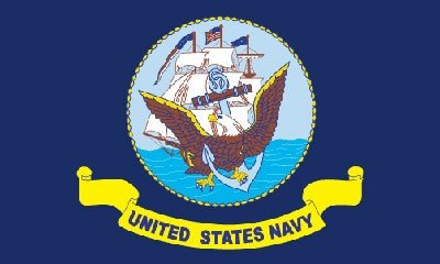 Navy 3  x 5 Embroidered Flag