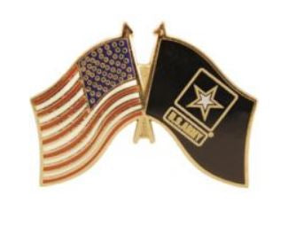 USA & Army Flag Pin