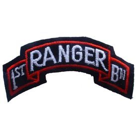 1st Ranger Batt. Scroll Patch