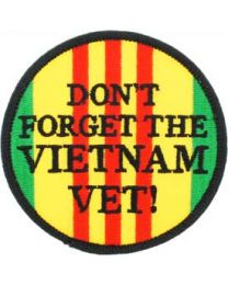 Dont Forget Vietnam Vet Patch