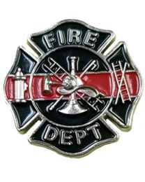 Pin Red Line Honor Badge