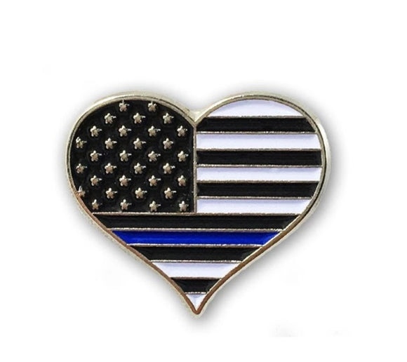 Heart Pin Thin Blue Line
