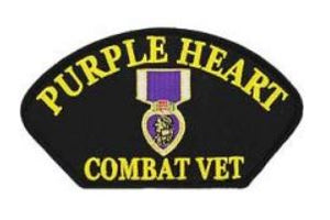 Purple Heart Combat Vet Patch