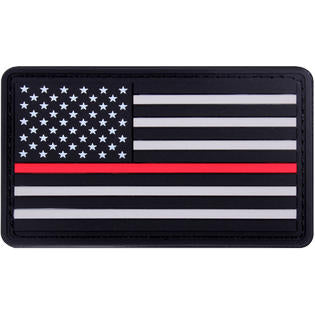 Rubber Thin Red Line US Flag Patch