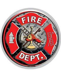 Fire Dept Round INSIDE Decal