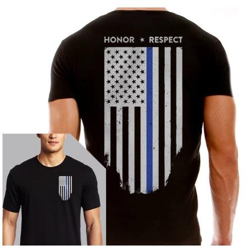Thin Blue Line Honor Respect T-Shirt