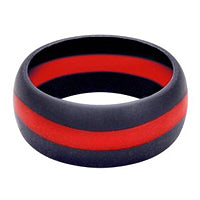 Silicone Thin Red Line Ring
