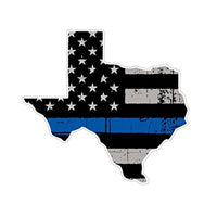 Texas Thin Blue Line State Sticker