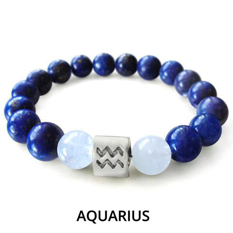 Blue Zodiac Charm Bracelet - Ships Within 24 Hours.