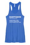 Sagittarius Definition Woman's Racerback Tank