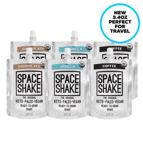 1. SPACE SHAKE - VARIETY (6 PACK OF 3.4OZ SHAKES)