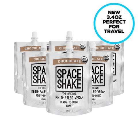 1. SPACE SHAKE - CHOCOLATE (6 PACK OF 3.4OZ SHAKES)